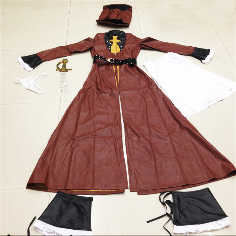 New Plus Size Luxurious Leather Women Pirate Clothing Halloween