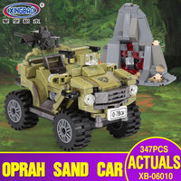 XINGBAO 06010 Genuine Military Series 347Pcs The Oprah Sand Car Set Building Blocks Bricks Toys As