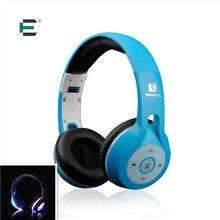 E T Wireless bluetooth headset Luminoso Luz led Brillante deportes música Auriculares con Micrófono Auricular para xiaomi huawei samsung