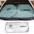 Estilo do carro da Frente Janela Sombrinha UV Protect Para Skoda emblema fabia1 citigo roomster superb yeti felicia octavia 2 a7 a5 rs vrs