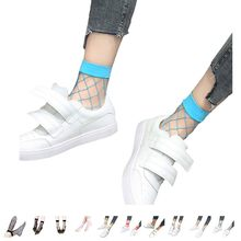 Warm Summer Sexy Grid Socks Fishnet Socks Hollow Lattice Black Net Socks High Heels Sox For Women(China)