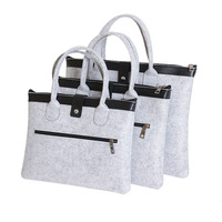 New Fashion Soft Wool Felt 11 To 17 Inch Muti Size Laptop Bag Business Briefcase Bag