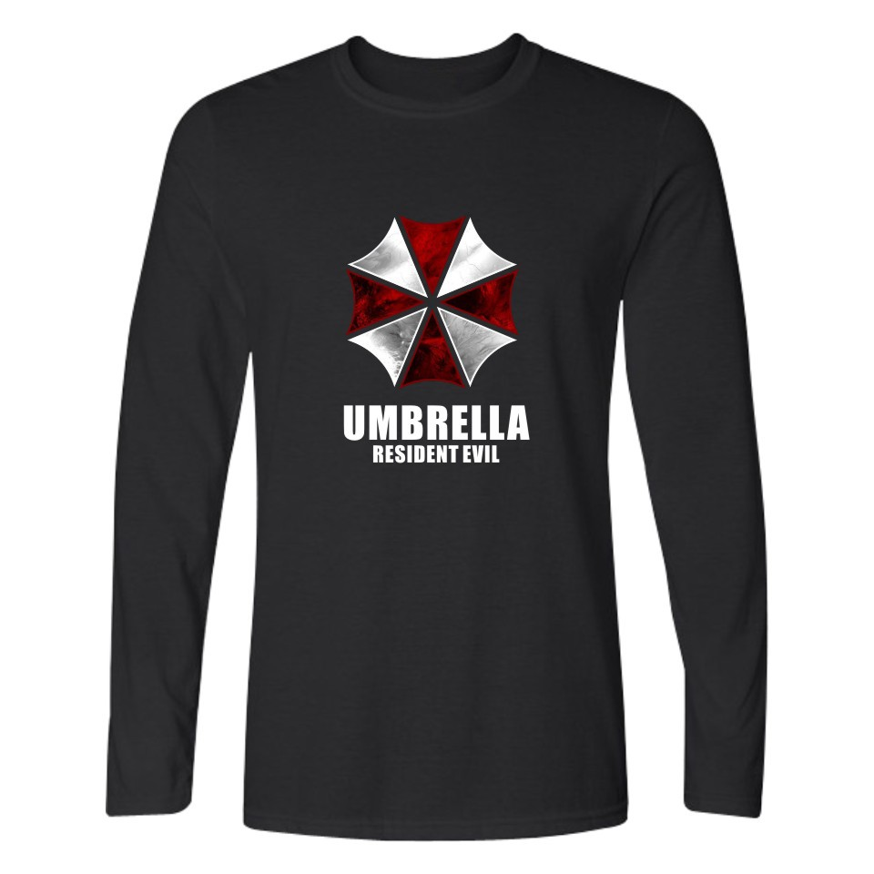 Resident Evil Umbrella Long Sleeve T Shirt Men Women Cotton cosplay tshirt Casual Streetwear Long T-shirt movie plus size Tops
