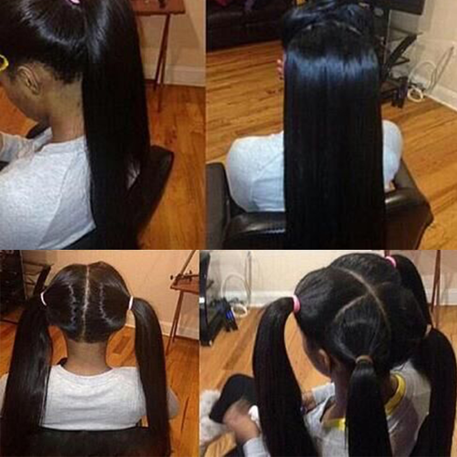 Fofocas 360 Peruano Peruca Reta 360 Perucas Do Laço Frontal Para As Mulheres Negras Glueless 13x6 Dianteira Do Laço Humano perucas de cabelo Pré Arrancadas