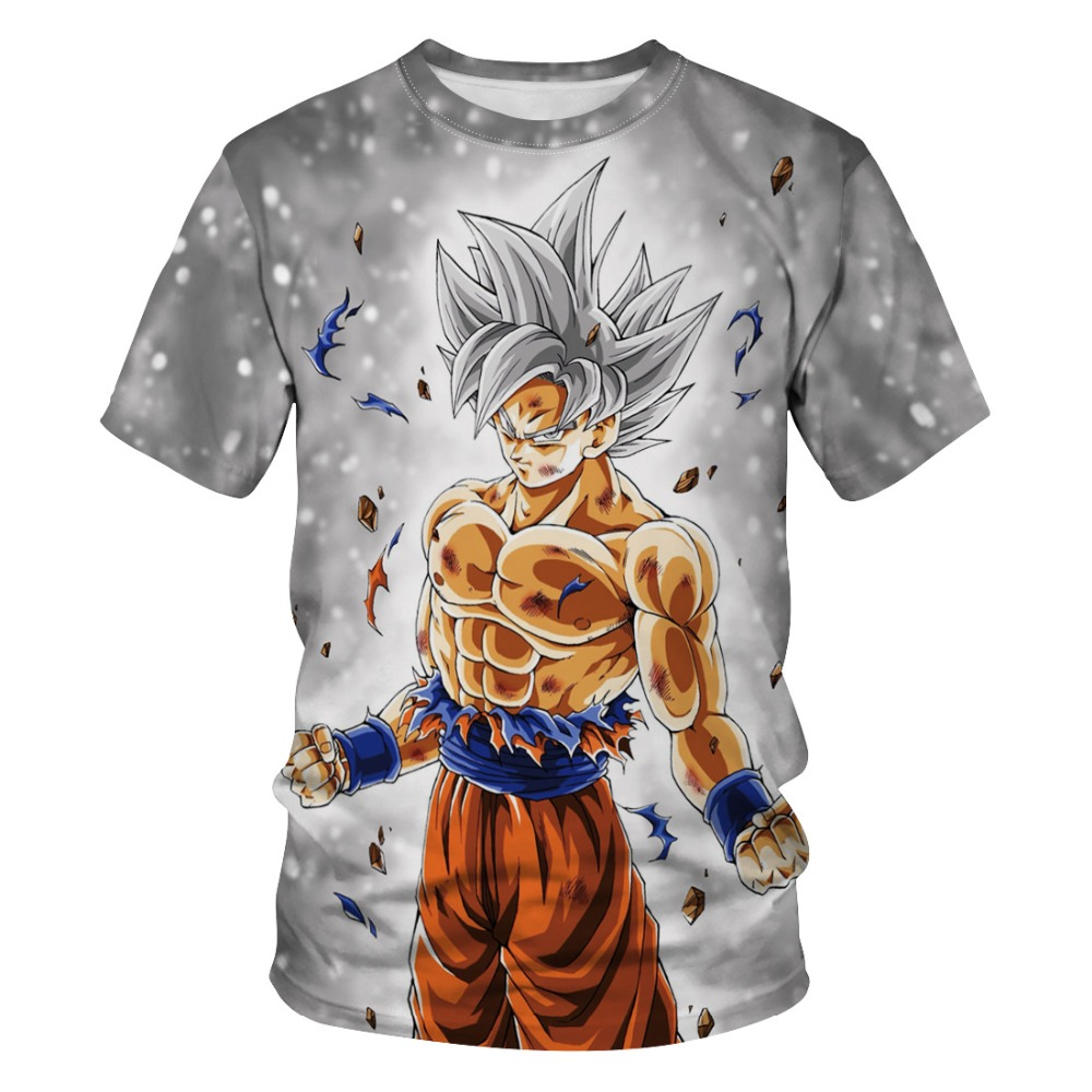 Mens Womens 3D Print Dragon Ball Z Goku Cartoon Anime Action Figure Tees T-Shirt Short Sleeve