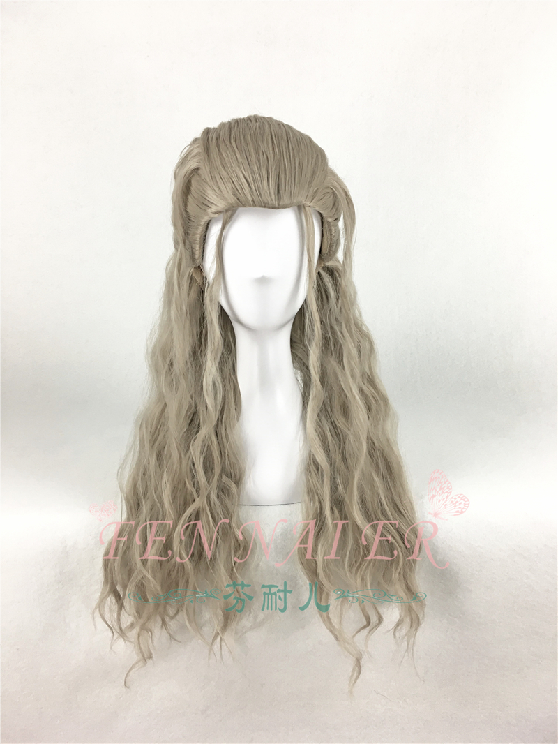 Avengers Age Of Ultron Thor Odinson Mix Blonde Curly Cosplay Wig Synthetic Hair Halloween Costume Party Play Wigs Props Novelty & Special Use