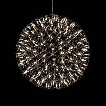 Moderne Kurze Loft Funken Ball LED Anhänger Leuchte Feuerwerk Ball Edelstahl Anhänger Lampen Home Deco Beleuchtung 110- 240 V