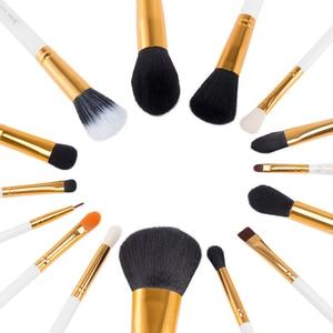 Image 2 - Jessup кисти, 15 шт., кисти для макияжа, пудра, основа для макияжа, набор кистей для макияжа, тени для век, подводка для глаз, инструмент для губ, белый/золотой, косметика, красота
