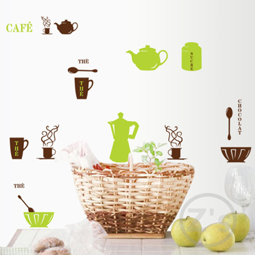 Zs Sticker Furniture for kitchen coffee decor wall sticker home decor dining room adhesives mural kitchen wall decals