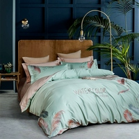 luxury Egyptian cotton bedding sets queen king bed set Chinese embroidery duvet cover bed sheet set pillowcase 4/6Pcs