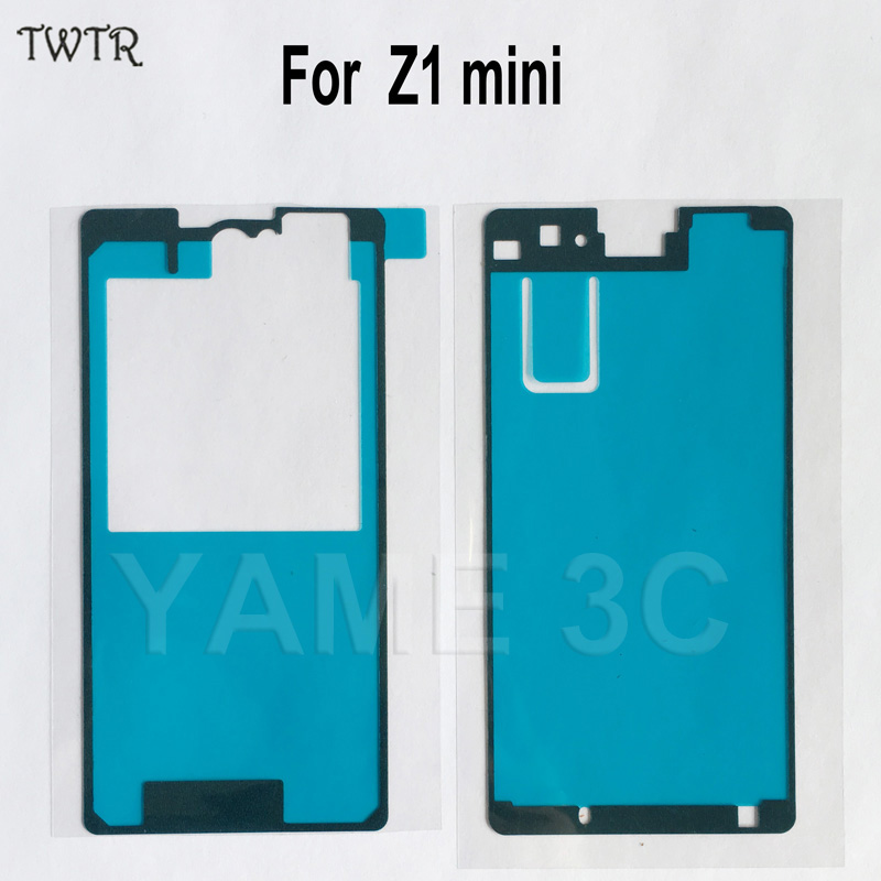 Original New For SONY Xperia Z1 Compact M51W Front LCD Frame Glue Z1mini BacK Cover Adhesive tape