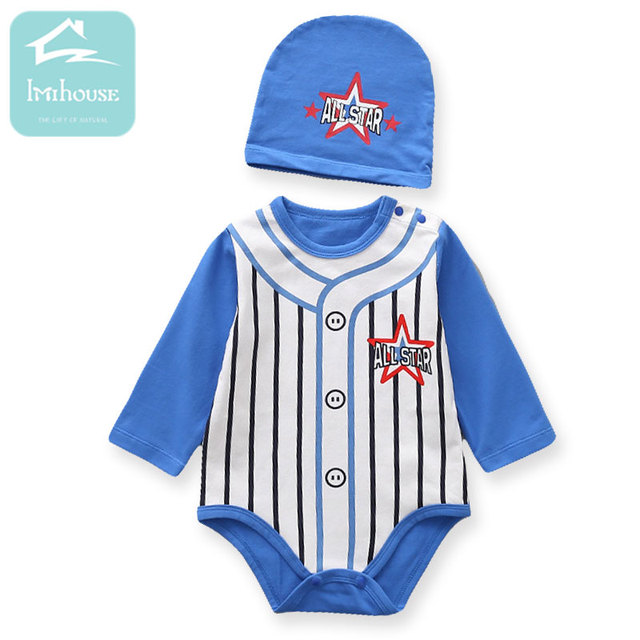a9daf989e8ef 3M 24M New 2018 Fashion Sports Baby Boy Clothes Long Sleeve Striped ...