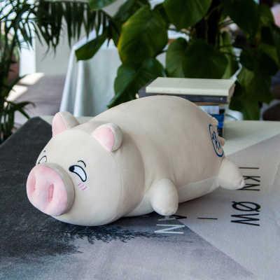 """38-70 ס""""מ 9 Syles שוכב מנוחה חזיר ממולא בפלאש צעצוע חזיר גדול כרית ספה חמוד רך מתנת יום הולדת בובות חזיר ישן עם נחיר"""