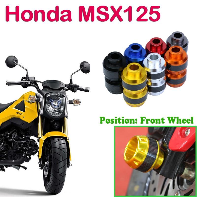 Universal 2 piece Motorcycle CNC Front Wheel Fork Slider Anti Crash Falling Protectors Anticaida For Honda MSX125 M3 Yamaha