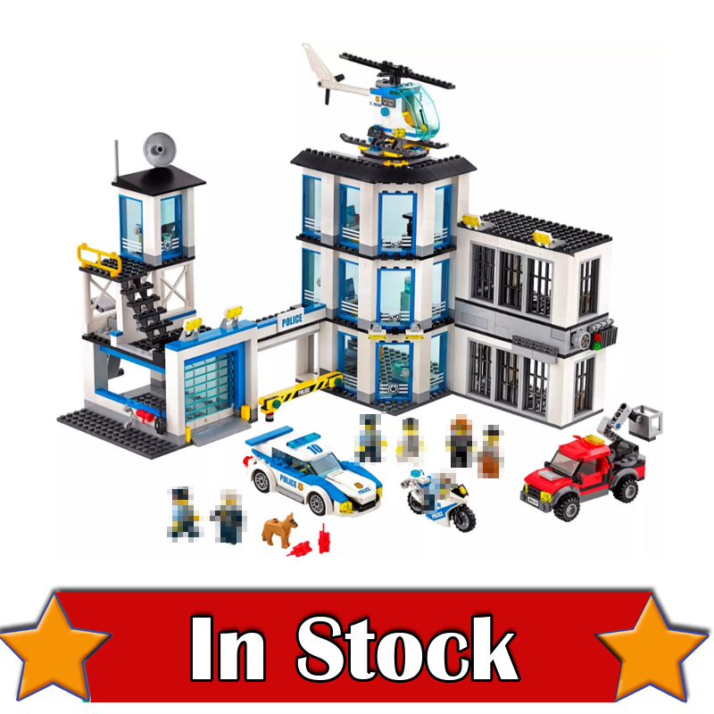 LEPIN City Police Station 02020 965PCS Building Blocks Bricks toys for children gifts brinquedos compatible legoINGly 60141 kazi 6726 police station building blocks helicopter boat model bricks toys compatible famous brand brinquedos birthday gift