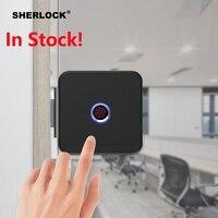 Шерлок F1 Smart Lock Стекло замок двери офиса Keyless Отпечатков пальцев проверки с Bluetooth APP дистанционного Управление электронный замок