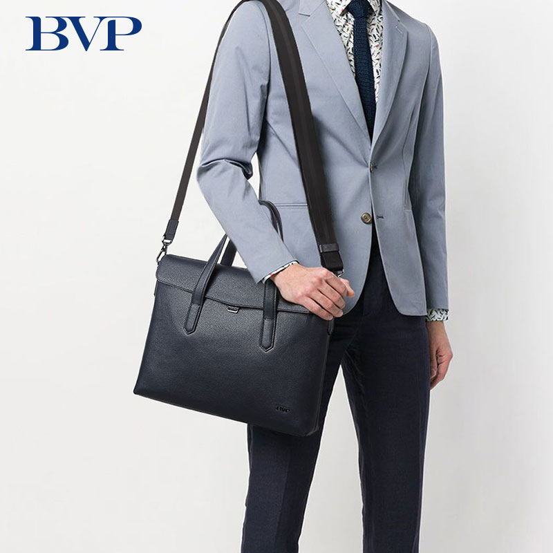цена на BVP Men Briefcase Genuine Leather Bag Handbag Business Shoulder Messenger Bags Top Quality Real Leather Male Crossbody Bag 50