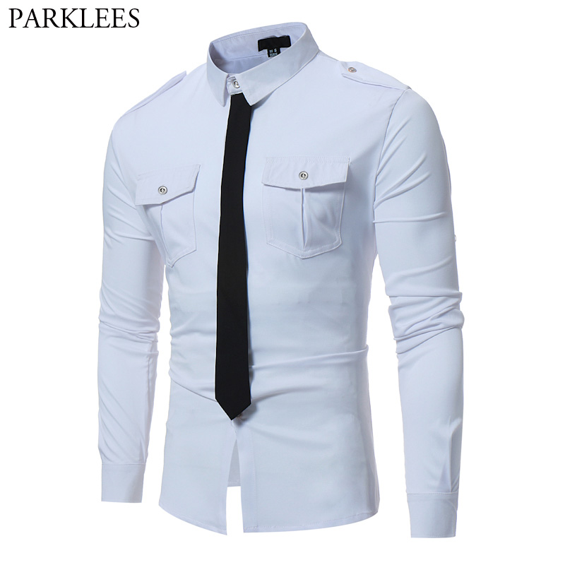 White Shirt Men 2017 Autumn Cotton Men Shirt Long Sleeve Slim Fit Male Shirts Chemise Homme Casual Button Down Mens Dress Shirts ...