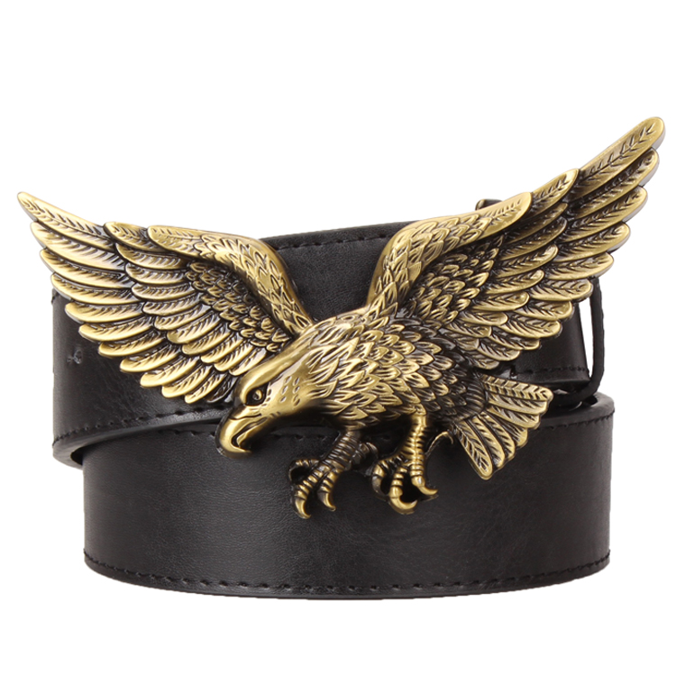 Heavy Metal Cowboy Punk Belt Genuine Leather Hip Hop Belts For Men Cross Rivet Jeans Belt Male Strap Ceinture Homme PT16