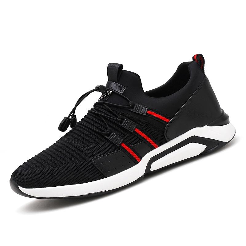 Tamanho Homem De Casuais Preto Marca Escorregar Sapatos 48 Livre Tênis Light amp; Calçados Homens Polali Moda vermelho Respirável Ao Ar Ra5wq4tn