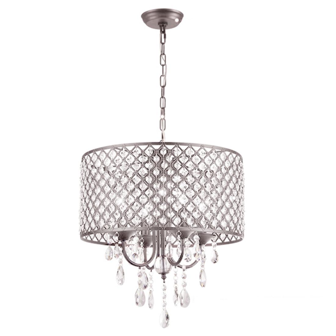 40cm Modern Contemporary Crystal Pendant Light Ceiling Lamp Chandelier Lighting 2 packs modern contemporary chandelier lighting crystal ball fixture pendant ceiling lamp 1 light e14