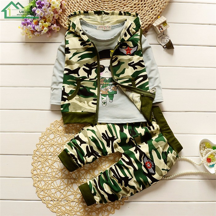 long sleeve camouflage kids clothes set9