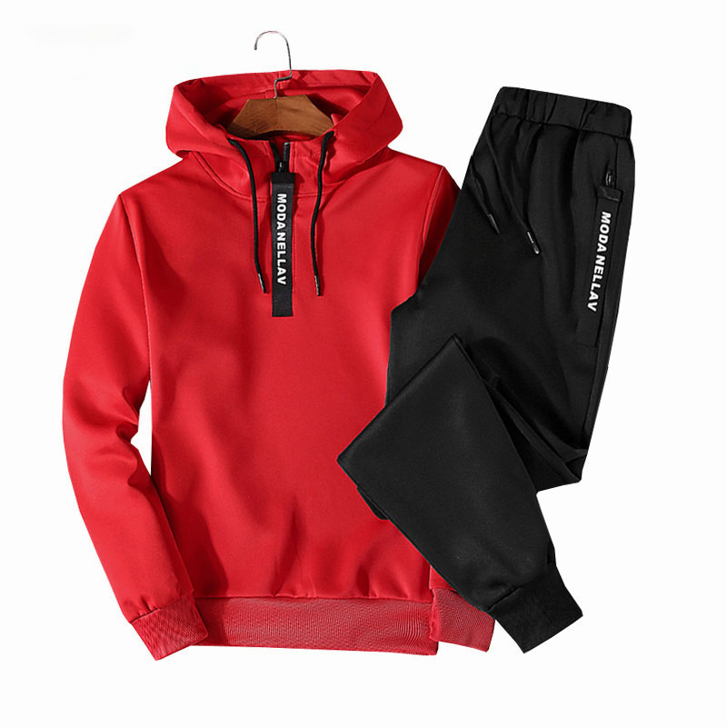 Men Tracksuit Sets Pullover Hoodies Pants Sportwear Suit Male Hoodies plus men clothes 2019 Hot spring AutumnTwo PieceY1