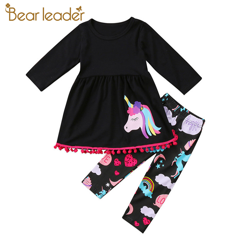 Bear Leader Baby Girls Clothing Sets 2018 New Brand Unicorn Pattern Clothes +Printed Trousers Two piece Set For 2-6 Year new original xs7c1a1dbm8 xs7c1a1dbm8c warranty for two year