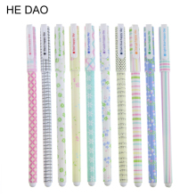 10 Pcs/lot New Cute Colorful Cartoon Gel Pen Set Kawaii Korean Stationery Creative Gift School Supplies Colored Gel Pens