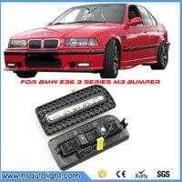 Одна пара DRL для BMW E36 M3 или 3 серии W м бампер 10 Вт высокое Мощность LED Габаритные огни