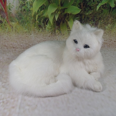 simulation cute lying white cat large 30x21x16cm model polyethylene&furs cat model home decoration props ,model gift d703 large 21x27 cm simulation sleeping cat model toy lifelike prone cat model home decoration gift t173