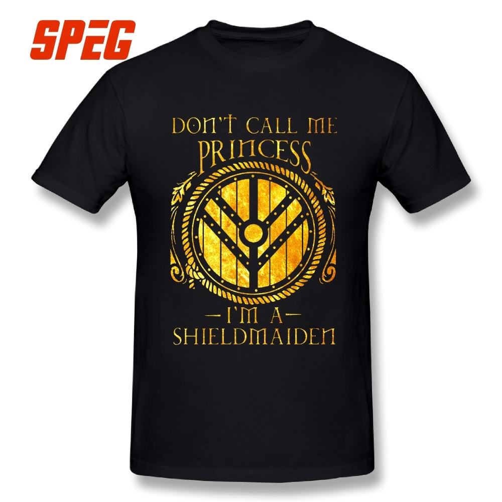 Tees Vikings Sie ist Nicht eine Prinzessin Valhalla Männer Oansatz Tops Hipster Baumwolle Kurzarm T Hemd Förderung Männer Kunst t-Shirts
