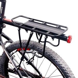 Image 5 - Bicicletta Carrier Veloce Smontato Della Bici di Montagna Della Bici Della Lega di Alluminio Uomo Scaffali Biciclette Sedile Posteriore Accessori per Lequitazione
