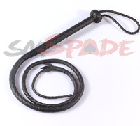 1.3M Black artificia leather flogger, handmade horse whip, Horse racing flogger, free shipping knout
