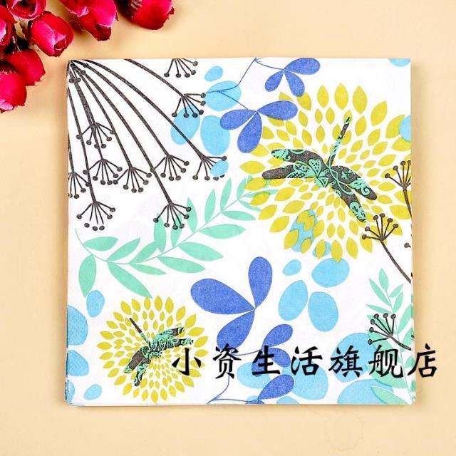 20 pcs 33 cm * 33 cm Borboleta Floral Guardanapos de Tecido Guardanapo de Papel Festivo Do Partido Decoração Do Partido