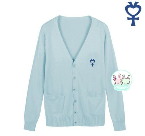 Милая женская японская Униформа-матроска, символ Луны, свитер на пуговицах, кардиган с длинными рукавами, зимний толстый
