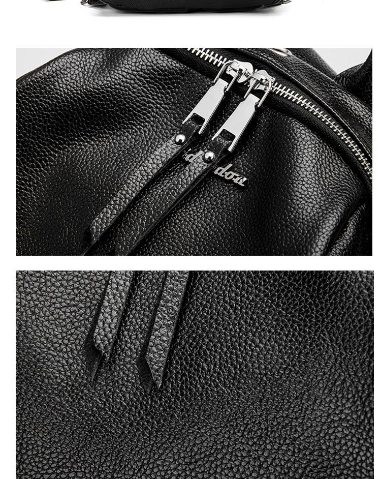 2020 nova moda de couro genuíno mochila