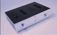 Diy 앰프 케이스 430*75*320mm QJ-4375 전체 알루미늄 파워 앰프 섀시/프리 앰프 섀시/amp 케이스 인클로저 박스 diy
