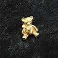 The new free shipping euramerican style 2016 Texture gold blessing bear cute brooch brooch