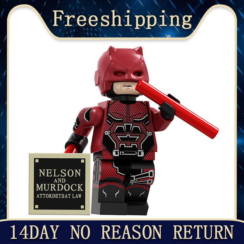 Super Heroes Building Blocks Daredevil Zombie Robin Deathstroke Wonder Woman Collection Figures For Children Toys PG1717
