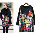 Hoodies M-4XL Outono Para As Mulheres 2016 Novo Harajuku Pullovers Soltas Casual Engrossar Camisola Das Mulheres Camisolas Moletom Plus Size
