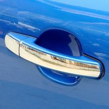 Обшивка дверных ручек из нержавеющей стали ABS Хромированная дверная ручка Крышка для Ford focus 2 3 2005-2011 2012 2013 автомобильные аксессуары