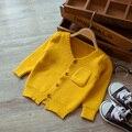 Nuevo 2017 de primavera y otoño de los niños ocasionales chico suéter rebeca de los bebés del suéter de los niños de moda suéter lindo
