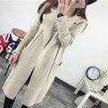 2016 Señoras de la manera capa del suéter de las mujeres chaqueta de punto la edición de Corea femenina cardigan tejido de punto gilet femme manche longue