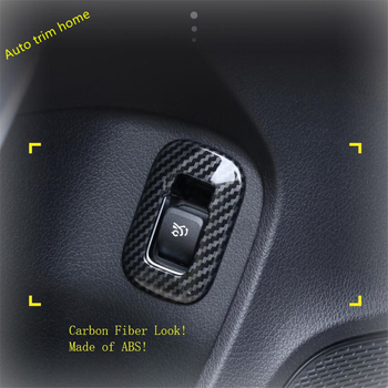 Lapetus Rear Trunk Door Control Button Cover Fit For Mercedes Benz A Class W177 A180 A200 A220 A250 2019 2020 Carbon Fiber Look image