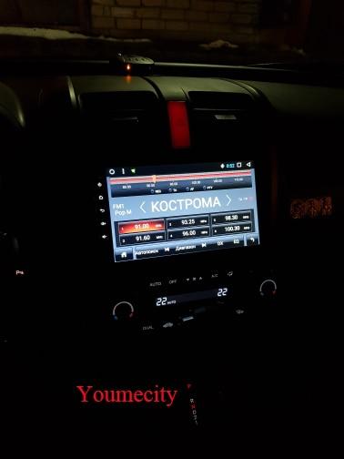 Lecteur dvd de voiture Youmecity GPS Navi pour Honda CRV 2007-2011 IPS écran capacitif 1024*600 + wifi + BT + SWC + RDS + Android 8.1 + 2G RAM - 4