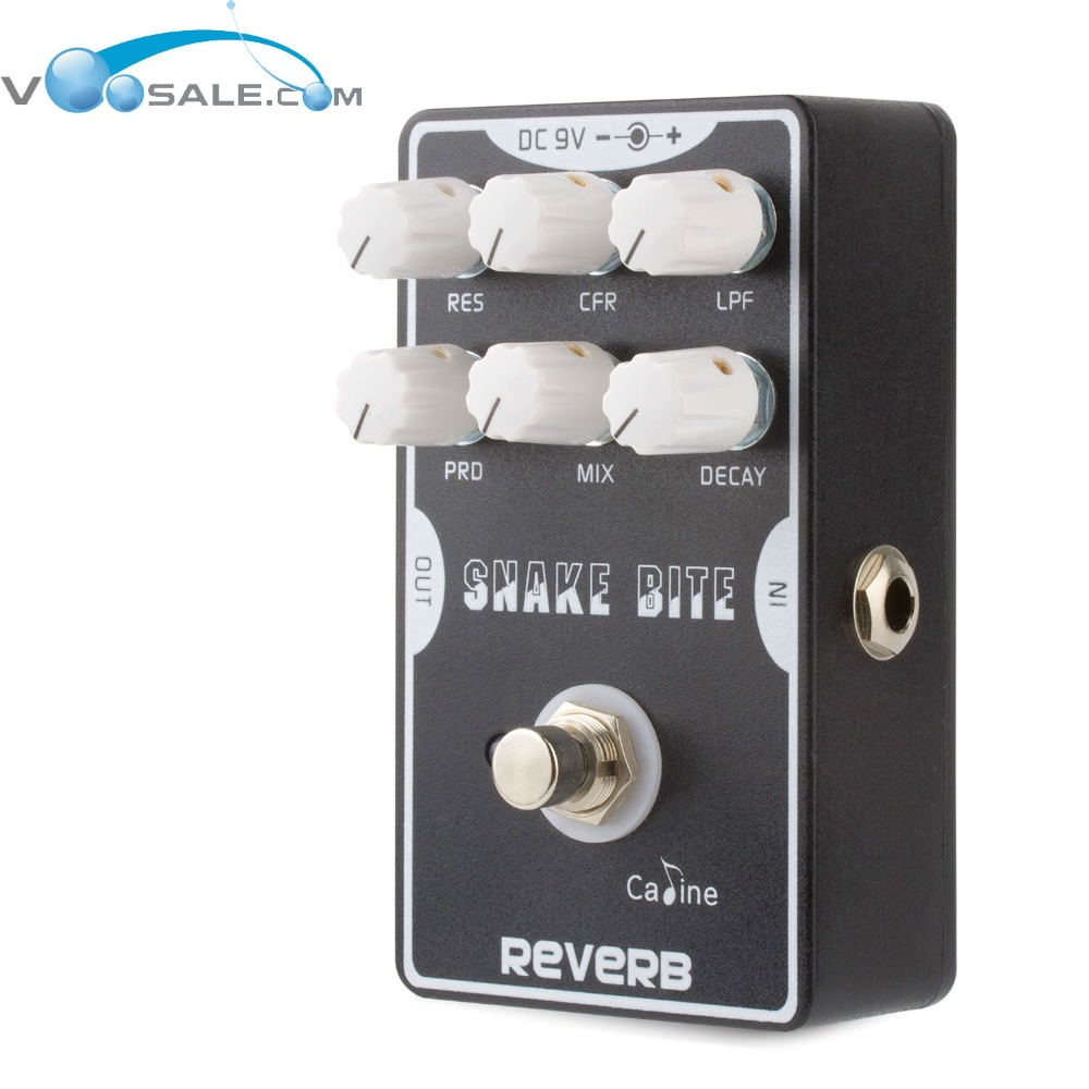 Caline CP-26 Reverb Pedals True Bypass Guitar Electric Effect Pedal Guitar Accessories Black caline cp 29 guitar effect pedal mixing boost white heat true bypass design