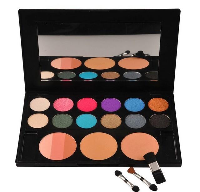 Ms2815 01 sombra paleta 6 cores de sombra 6 blush 3 pó compacto Series Shimmer série belas pó fácil de aplicar