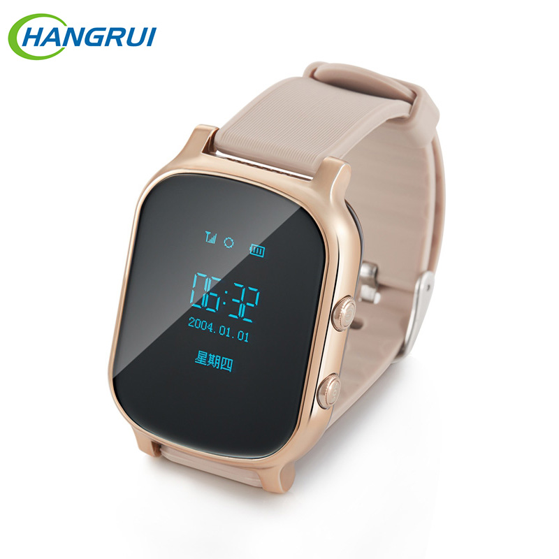 Original T58 GPS Tracker Smart Watch Kids Child Elder Bracelet Google Map Sos Button Tracker Gsm GPS Locator Clock Smartwatch