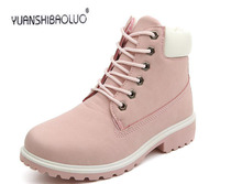 Female boots , qiu dong with tooling flat DaTouXie leisure Martin boots female female yards short boots